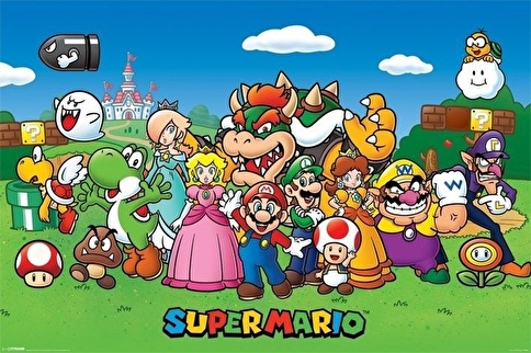 Pyramid International Maxi Poster Super Mario Characters Renkli